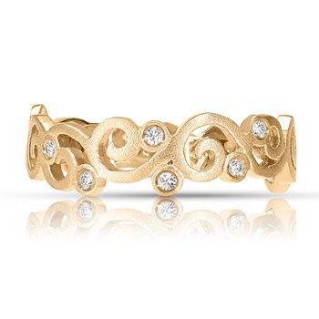 1/20ct. Diamond 14k Yellow Gold Right Hand Ring Band