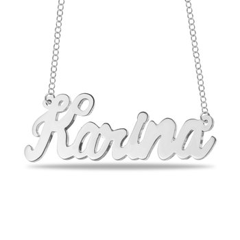 Your Own Handwriting Name 32mm Customized Chain Necklace