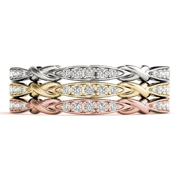 1/15ctw. Diamond Anniversary Wedding Stackable Ring Band