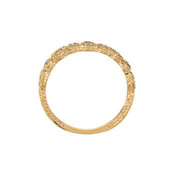 14K Gold 0.15ctw. Diamond Geometric Anniversary Engagement Wedding Band Ring