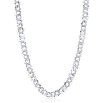 - Sterling Silver 3.45mm Curb Cuban Chain Bracelet / Necklace for Men