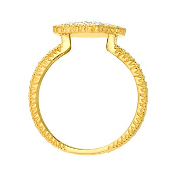 14K Gold 0.51ctw. Diamond Cluster Accented Cocktail Anniversary Ring