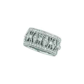 14k White Gold 1.06ctw. Diamond Eternity Anniversary Band Ring