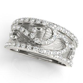- 0.33ctw. Diamond Anniversary Right Hand Band Ring