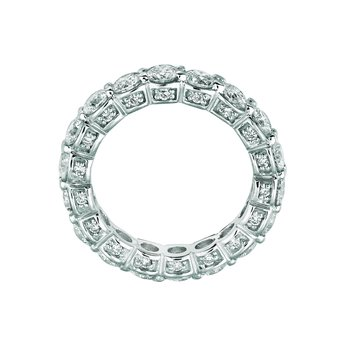 14k White Gold 3.74ctw. Diamond Eternity Anniversary Wedding Band