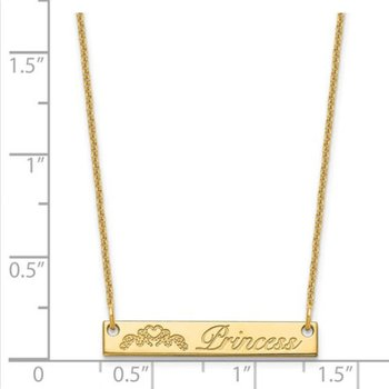 "14k Gold Personalized Nameplate Name Symbol with 18""x1mm Chain Necklace"