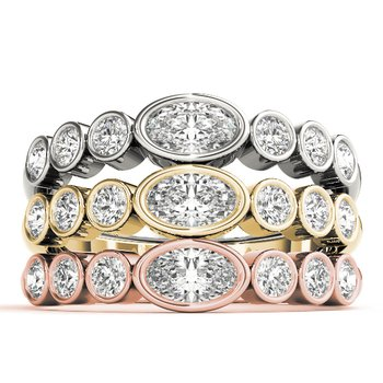 0.25ctw. Diamond Bezel Set Anniversary Wedding Stackable Ring Band
