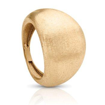 14k Yellow Gold Matt-Finish Italian-Inspired Right Hand Ring