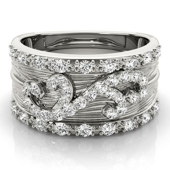 - 0.50ctw. Diamond Anniversary Right Hand Band Ring