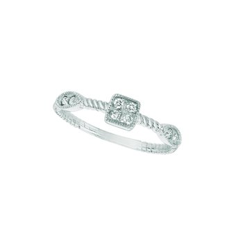 14K Gold 0.15ctw. Diamond Square & Marquise Shape Geometric Anniversary Wedding Band Ring