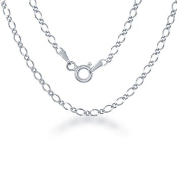 Sterling Silver 3mm Fancy Link Chain Necklace