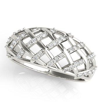 - 0.25ctw. Diamond Anniversary Right Hand Band Ring