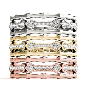 1/10ctw. Diamond Anniversary Wedding Stackable Ring Band