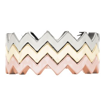 Stackable Plain Zig Zag Wavy Band Ring