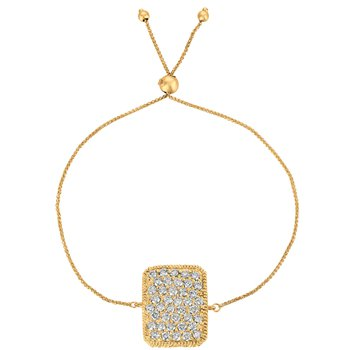 "14k Gold 1.25ctw. Bolo Diamond Rectangle Bracelet, 7""-8"" adjustable length"