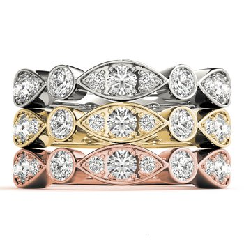 7/8ctw. Diamond Anniversary Wedding Stackable Ring Band