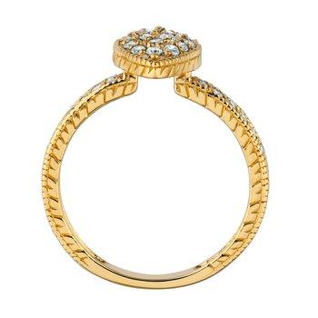 14K Gold 0.50ctw. Diamond Pear Shape Cocktail Anniversary Ring