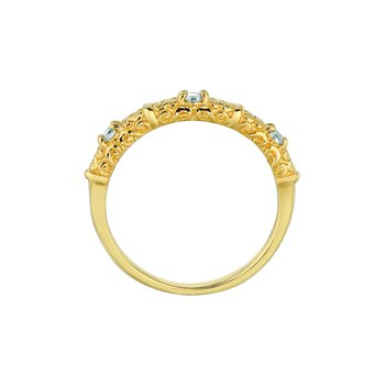 14K Gold 0.12ctw. Diamond Stackable Anniversary Engagement Wedding Band Ring