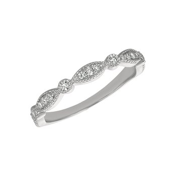 14k Gold 0.25ctw. Diamond Geometric Anniversary Wedding Band Ring