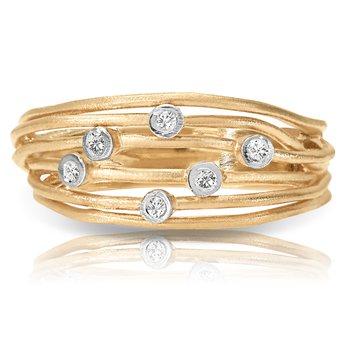 1/20ct. Diamond 14k Yellow Gold Right Hand Band Ring