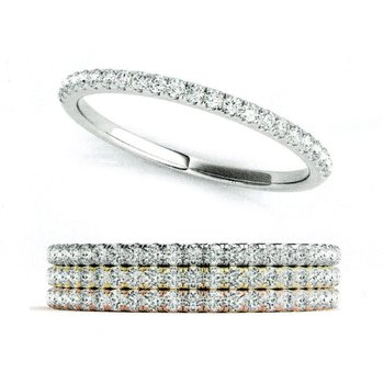 1/8ctw. Diamond Anniversary Wedding Stackable Ring Band