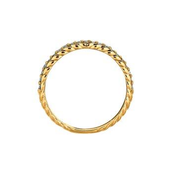 14K Gold 0.20ctw. Diamond Anniversary Engagement Wedding Band Ring
