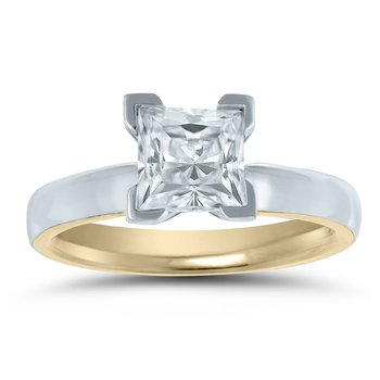 - Semi-Mount Princess Solitaire INSIDE OUT Unique & Trending Engagement Ring