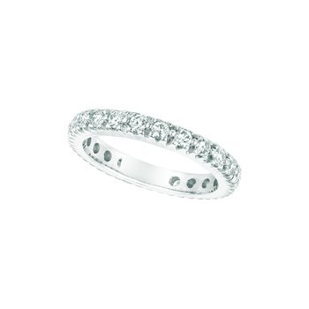 14K White Gold Diamond Eternity Anniversary Wedding Band