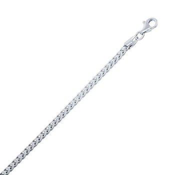 - Sterling Silver 2.5mm Franco Chain Bracelet / Necklace for Men