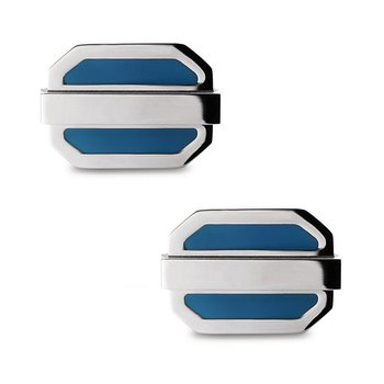 - Stainless Steel Tan Oval Cuff Links for Men