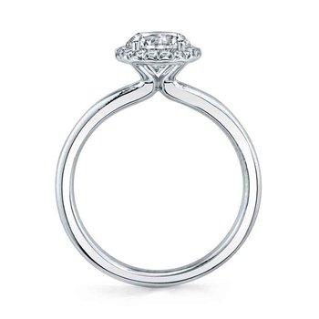 - Classic Halo Semi-Mount Engagement Ring