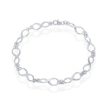 "- Sterling Silver Infinity Link Bracelet - 7.25"""