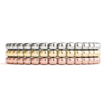 Anniversary Wedding Stackable Beaded Ring Band