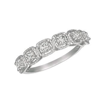 14k Gold 0.50ctw. Diamond 6-Stone Square-Setting Anniversary Wedding Band Ring