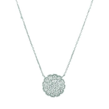 14K Gold 1.08ctw. Diamond Circle Chain Necklace