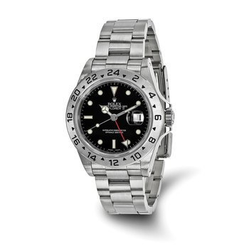 : Pre-Owned Independently Certified Rolex Explorer II Steel with Black Dial, Fixed Bezel, and Steel Oyster Band
