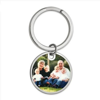 Sterling Silver Picture Image Personalized Key Chain Key Ring