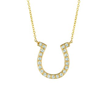 14K Gold 0.25ctw. Diamond Horseshoe Chain Necklace