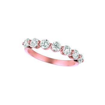 14K Gold 1.25ctw. Diamond 7-Stone Anniversary Engagement Wedding Band Ring