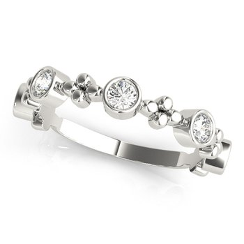 3/8ctw. Diamond Bezel Set Anniversary Wedding Stackable Ring Band