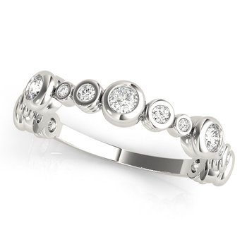 0.50ctw. Diamond Bezel Set Anniversary Wedding Stackable Ring Band