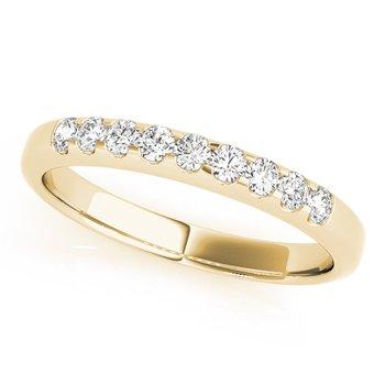 - Diamond 9-Stone Anniversary Wedding Band