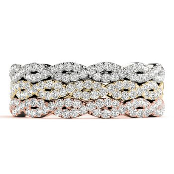 0.25ctw. Diamond Anniversary Wedding Twisted Stackable Ring Band
