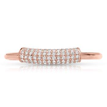 1/4ct. Diamond 14k Rose Gold Right Hand Anniversary Band Ring
