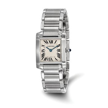 : Certified Pre-Owned Cartier Ladies Tank Francaise Stainless Steel Quartz