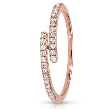 1/5ct. Diamond 14k Rose Gold Right Hand Anniversary Band Ring