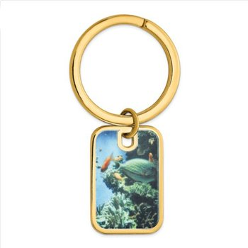 Sterling Silver Picture Image 29.5x20mm Personalized Key Chain Key Ring