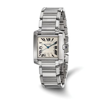 : Certified Pre-Owned Cartier Gents Tank Francaise Stainless Steel Automatic