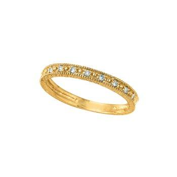 14K Gold 0.10ctw. Diamond Eternity Anniversary Engagement Wedding Band Ring