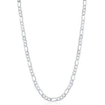 - Sterling Silver 3.3mm Figaro Chain Necklace for Men